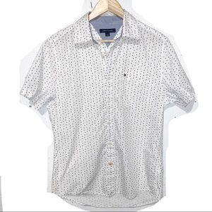 Tommy Hilfiger Short Sleeve Dress Shirt Star Print